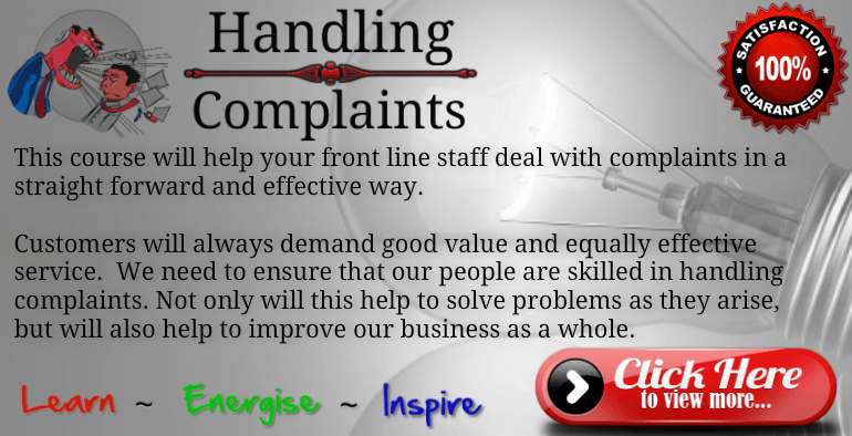 Handling Complaints Training